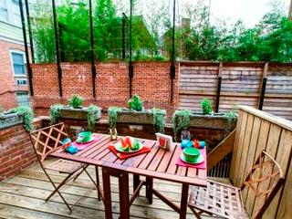 Or take your breakfast on the lovely deck