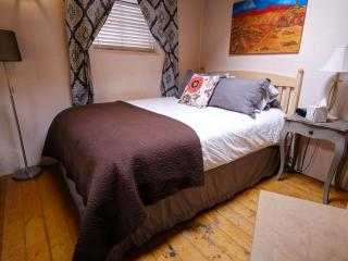 Queen size bed upstairs