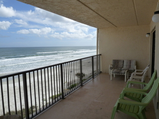 View to the South towards the Ponce Inlet Lighthouse from Oceanfront Balcony
