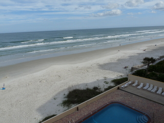 Oceanfront Balcony View of No Drive (Vehicle Free) Beach